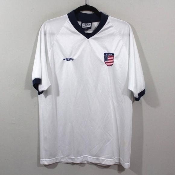 1dac9515c6 Umbro Shirts | Vintage Team Usa Soccer Jersey White Medium | Poshmark